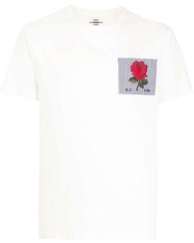 Biała t-shirt bawełniana Kent & Curwen