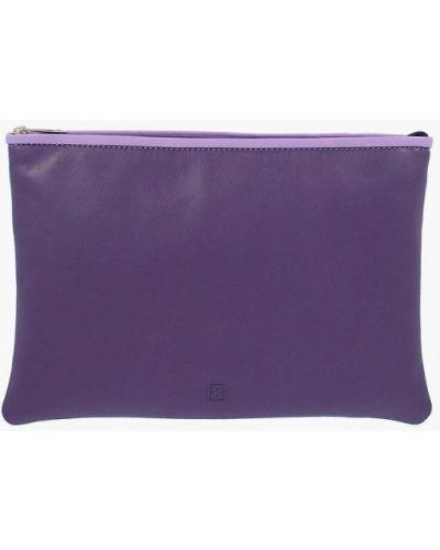 Кожаная сумка через плечо фиолетовый Dudubags