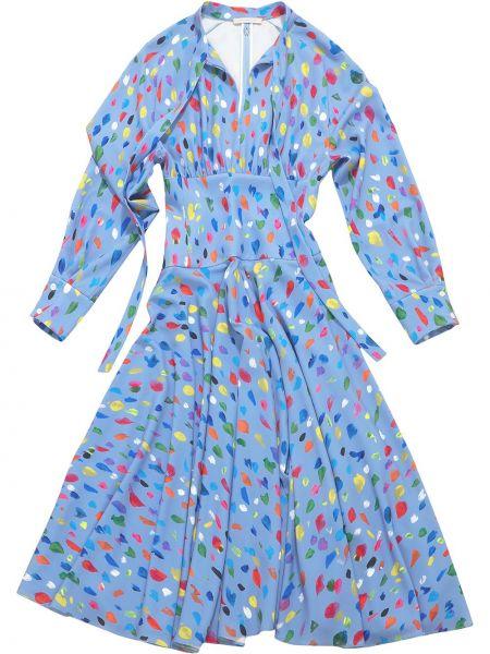 Sukienka z jedwabiu - niebieska Christopher Kane