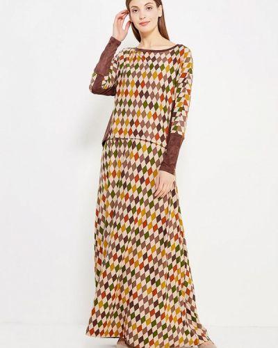 Коричневый костюмный юбочный костюм Sahera Rahmani