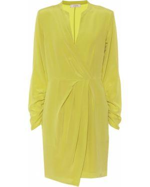 Шелковое желтое платье мини Dorothee Schumacher