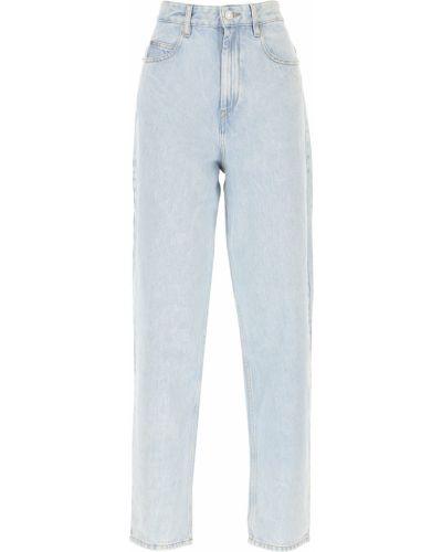 Niebieski spodni z wysokim stanem jeansy Isabel Marant