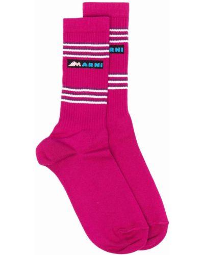 Розовые носки из эластана Marni