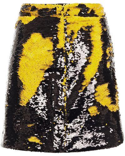 Czarna spódnica mini z cekinami Ganni