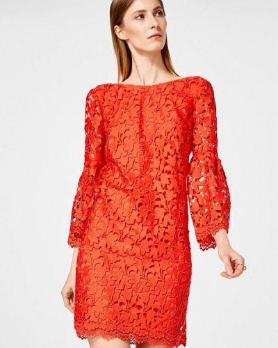 Коктейльное платье весеннее красный Pedro Del Hierro