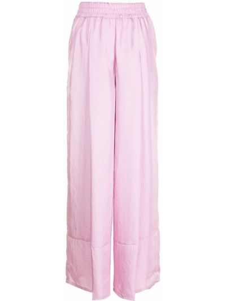 Różowe spodnie z wysokim stanem Sjyp