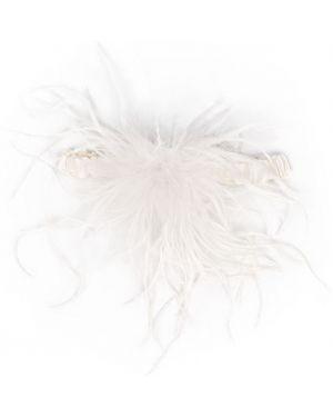 Podwiązka skórzana - biała Gilda & Pearl
