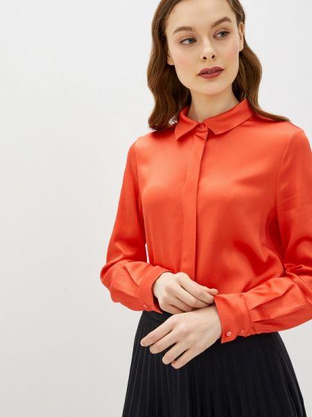 Шелковая красная блузка с длинным рукавом Silk Me