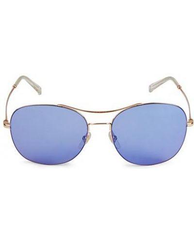 Солнцезащитные очки квадратные золотые металлические Gucci