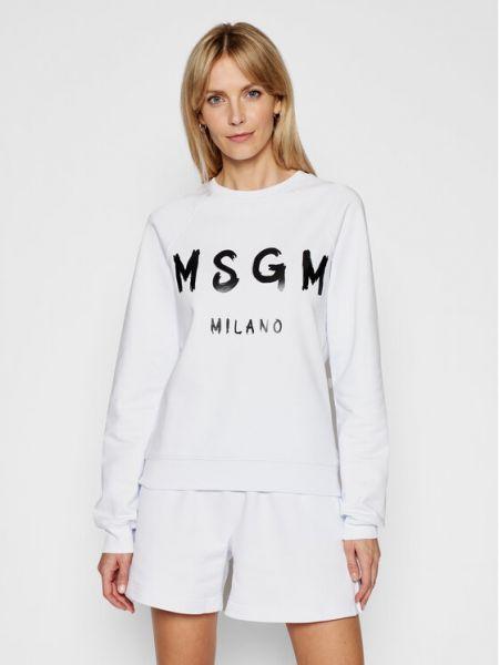 Biały dres Msgm