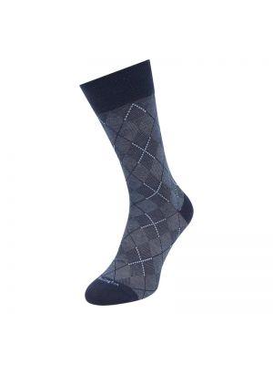 Prążkowane niebieskie skarpety bawełniane Burlington