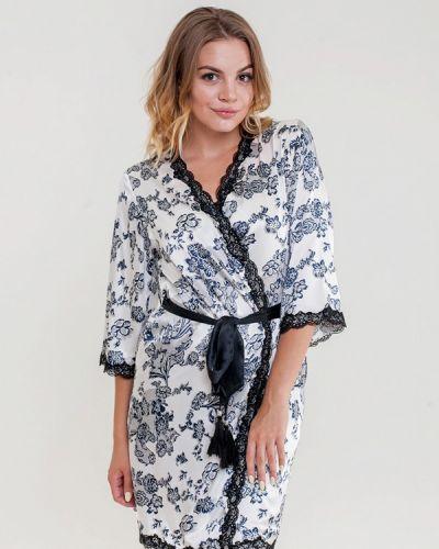 Домашний белый халат Mia-mella