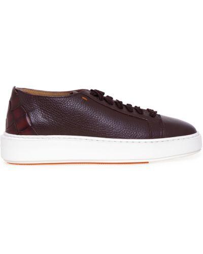 Czerwone sneakersy Santoni