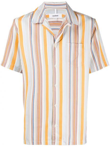 Koszula krótkie z krótkim rękawem klasyczna w paski Soulland