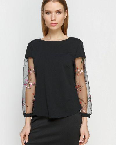 Черная блузка осенняя Zubrytskaya