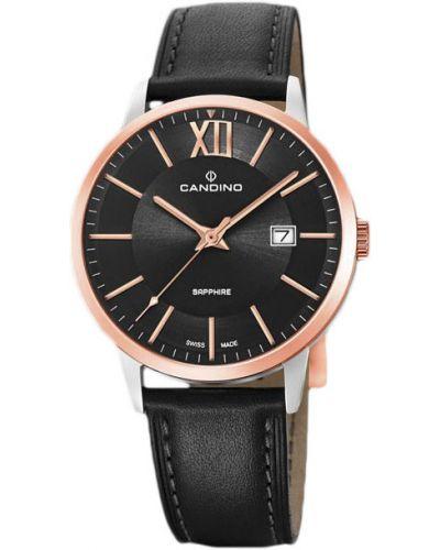 Кварцевые часы с кожаным ремешком швейцарские Candino