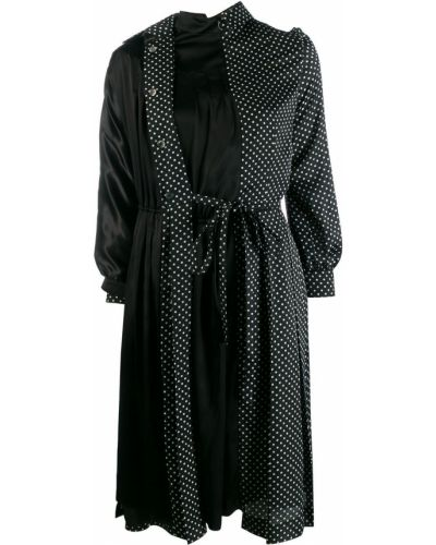 Платье макси в горошек с поясом Junya Watanabe