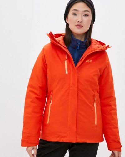 Оранжевая утепленная куртка Jack Wolfskin