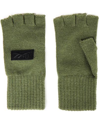 Rękawiczki bez palców wełniane - zielone Reebok X Victoria Beckham