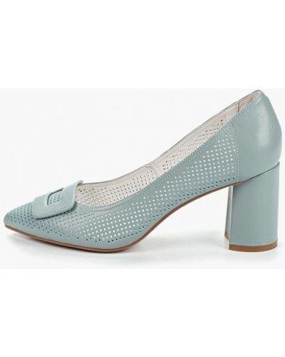 Кожаные туфли на каблуке бирюзовый Marie Collet