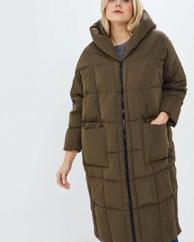 Пальто зеленое осеннее Hassfashion