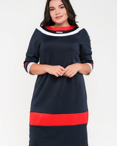 Трикотажное платье - синее Modniy Oazis