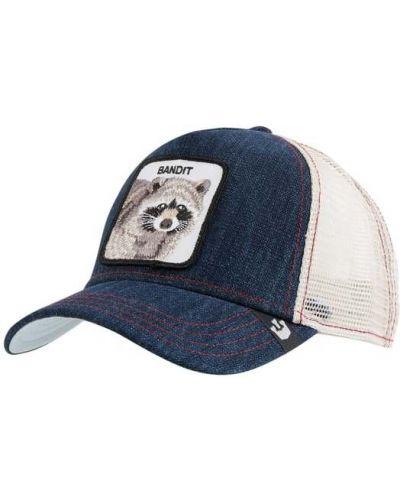 Niebieski bawełna bawełna czapka z aplikacjami Goorin Bros