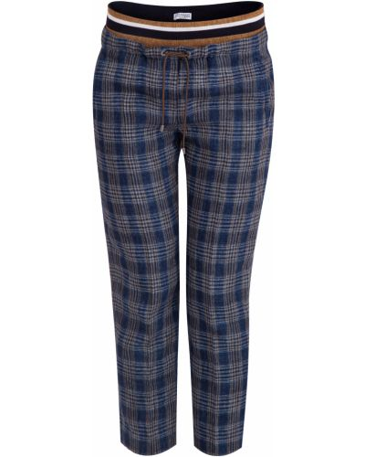 Спортивные брюки в полоску укороченные Brunello Cucinelli