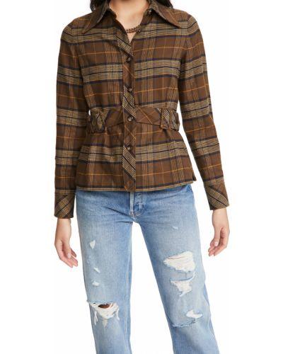 Koszula bawełniana z długimi rękawami z paskiem The Marc Jacobs