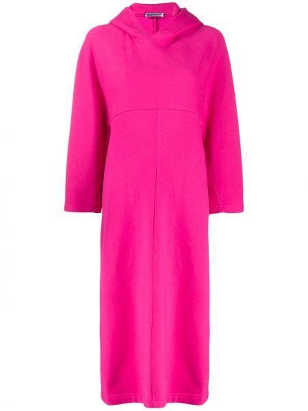 Платье миди с капюшоном кокон Balenciaga