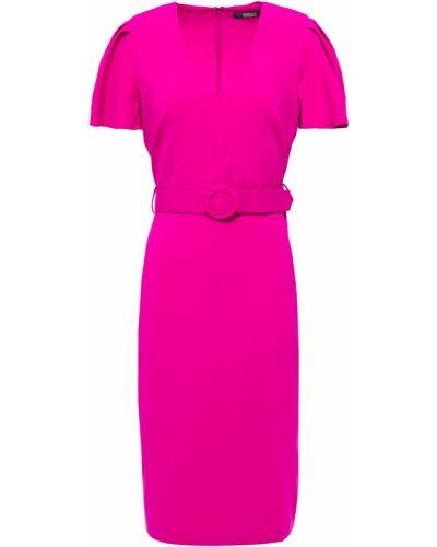 Плиссированное платье - розовое Badgley Mischka