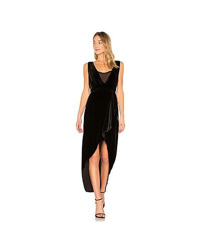 Платье шелковое асимметричное Bcbgmaxazria