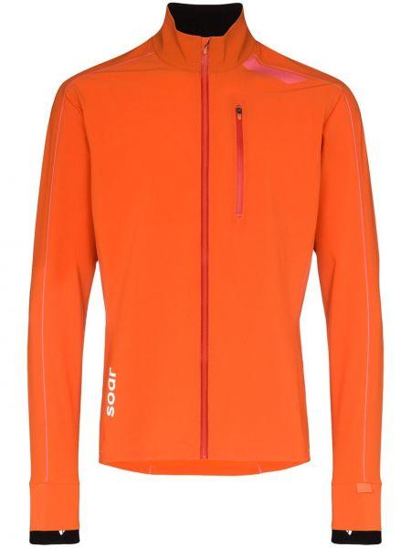 Оранжевая облегченная спортивная куртка Soar