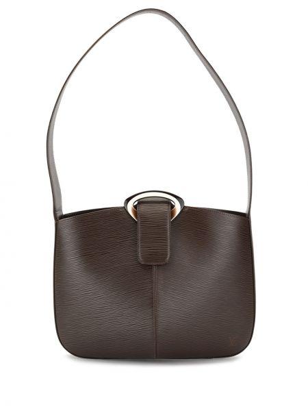 Skórzana torebka rama brązowa Louis Vuitton Pre-owned