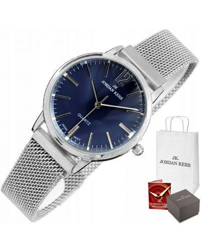 Szary klasyczny zegarek srebrny Jordan Kerr