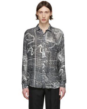 Koszula z długim rękawem z wiskozy jedwab Schnaydermans