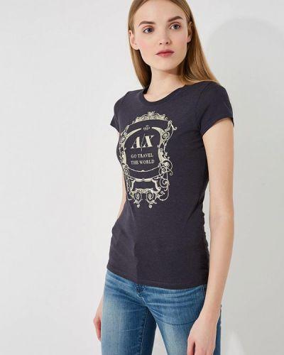Серая футболка Armani Exchange
