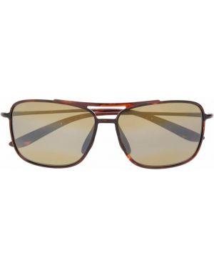 Солнцезащитные очки с логотипом - коричневые Maui Jim