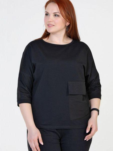 Черная блузка с длинным рукавом Prima Linea