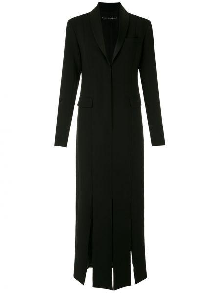 Черное платье миди с запахом с разрезами по бокам с карманами Gloria Coelho