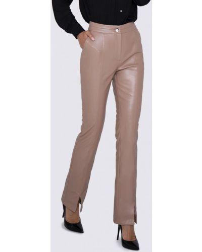Бежевые кожаные брюки Anushka By Anna Pavlova