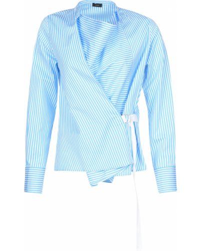 Хлопковая блузка - голубая Joseph