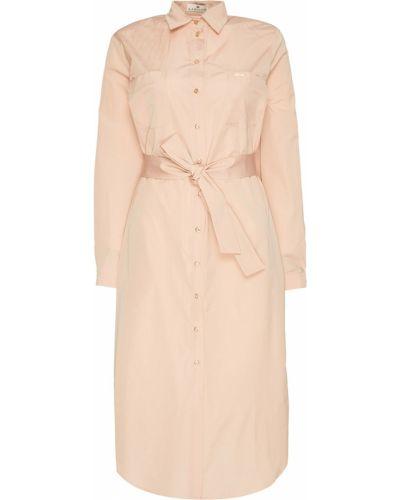 Платье миди розовое на пуговицах Laroom