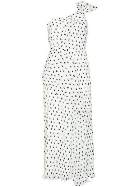 Biały jedwab sukienka Roland Mouret