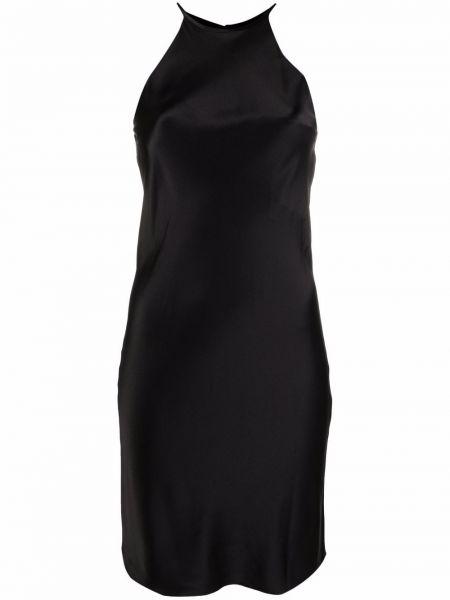Черное приталенное платье Krizia