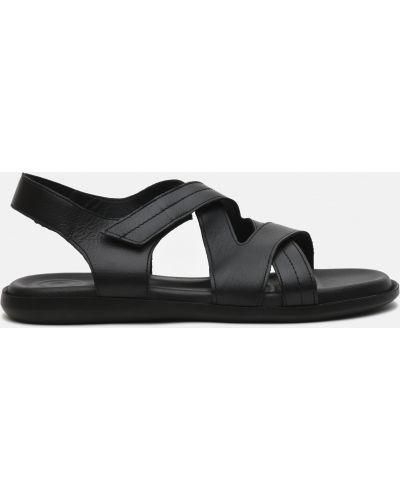 Кожаные сандалии - черные Plezuro