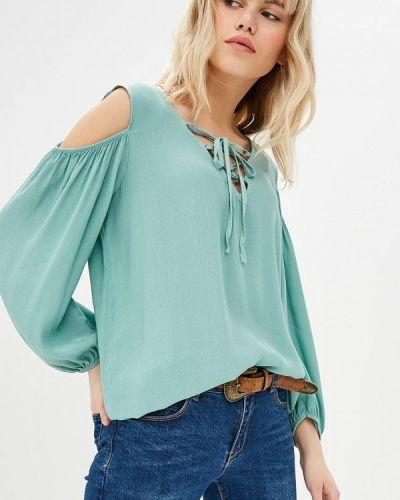 Блузка с открытыми плечами зеленый Almatrichi