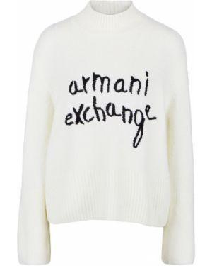 Джемпер укороченный с вышивкой Armani Exchange