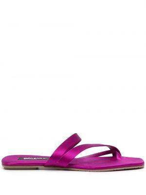 Фиолетовые кожаные сандалии Pedro García