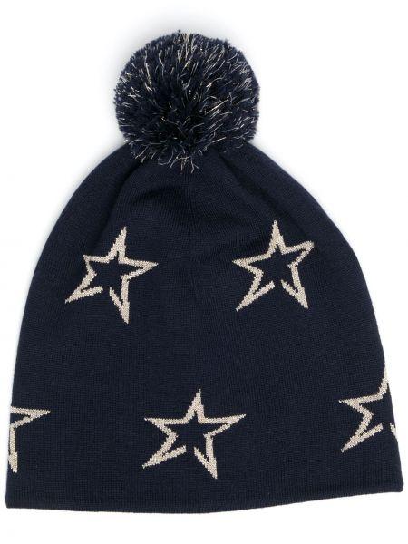 Шерстяная шапка бини - синяя Perfect Moment